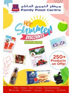 Family Food Centre Summer Discount Promotion Leaflet Cover Page